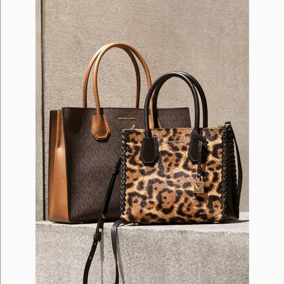 8e1fe0166ec3 Michael Kors Bags | Mercer Leopard Calf Hair Crossbody | Poshmark